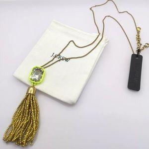 Authentic J.Crew Beaded Tasssel Necklace